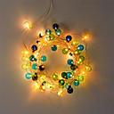 رخيصةأون شرائط ضوء مرنة LED-أدت الكرة البلاستيكية المرنة 2m شرائط ضوء / سلسلة الأنوار 20 المصابيح الدافئة الأبيض حزب / عطلة / بطاريات رائعتين تعمل بالطاقة 1 مجموعة