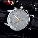 ieftine Ceasuri Bărbați-Bărbați Ceas Elegant Quartz Piele Negru / Alb / Albastru Ceas Casual Analog Modă - Negru Maro Albastru Un an Durată de Viaţă Baterie / Oțel inoxidabil