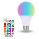 ieftine Becuri LED Corn-1 buc 10 W Bulbi LED Inteligenți 200-800 lm E26 / E27 A70 6 LED-uri de margele SMD 5050 Smart Intensitate Luminoasă Reglabilă Petrecere RGBW 85-265 V