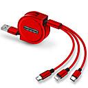 ieftine Android-Micro USB / Iluminare / Tip C Cablu 1.0m (3ft) Retractabil / 1 la 3 / Rapidă încărcare TPE / ABS + PC Adaptor pentru cablu USB Pentru iPad / Samsung / Huawei