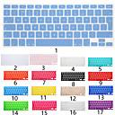 ieftine Ecrane Protecție Tabletă-Silicon Capac tastatură Pentru Apple MacBook Air 11'' / MacBook Air 13'' / MacBook Pro 13 '' Engleză / MacBook Pro 15 '' / MacBook Pro 13 '' cu display Retina / Macbook Pro 15-inch cu ecran Retina