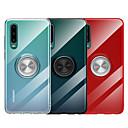 رخيصةأون Huawei أغطية / كفرات-غطاء من أجل Huawei Huawei P20 / Huawei P20 Pro / Huawei P20 lite مع حامل / حامل الخاتم / شفاف غطاء خلفي لون سادة ناعم TPU / معدن