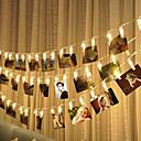 ieftine Fâșii Becurie LED-10m 80leds foto clipul titular a condus lumini șir acumulator alimentat de Crăciun noul an petrecere nunta ramadan decorare lumini fairy