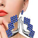ieftine Cuarț ceasuri-Pentru femei Mov Transparent Alb Zirconiu Cubic Cercei Geometric Rugăciune Modă Diamante Artificiale cercei Bijuterii Alb / Mov Pentru Cadou Zilnic 1 Pair