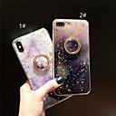 baratos Capinhas para iPhone-Capinha Para Apple iPhone XS / iPhone XR / iPhone XS Max Suporte para Alianças / Estampada / Glitter Brilhante Capa traseira Mármore Macia TPU