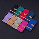 رخيصةأون واقيات شاشات Xiaomi-غطاء من أجل LG LG Stylo 5 / LG K40 / LG K10 2018 محفظة / حامل البطاقات / مع حامل غطاء كامل للجسم قرميدة قاسي منسوجات / LG G6