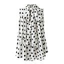رخيصةأون ساعات النساء-نسائي قميص منقط أبيض US10 / UK14 / EU42