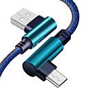 ieftine Cabluri & Adaptoare-Micro USB Cablu 2.0M (6.5Ft) Împletit Nailon Adaptor pentru cablu USB Pentru Xiaomi