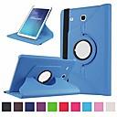 Недорогие Чехлы и кейсы для Galaxy Tab A 9.7-Кейс для Назначение SSamsung Galaxy Tab E 9.6 Поворот на 360° / Защита от удара / Защита от пыли Чехол Однотонный Твердый Кожа PU