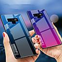 رخيصةأون إكسسوارات سامسونج-غطاء من أجل Samsung Galaxy Note 9 / Note 8 ضد الصدمات غطاء خلفي لون متغاير قاسي TPU / زجاج مقوى