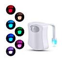 رخيصةأون Smart Lights-استشعار الحركة المرحاض مقعد ضوء الليل 8 ألوان للمرحاض المرحاض مرحاض المرحاض الخفيفة