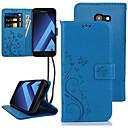 Недорогие Чехлы и кейсы для Galaxy A3-Кейс для Назначение SSamsung Galaxy A5 Бумажник для карт / Флип Чехол Цветы Твердый Кожа PU