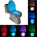 ieftine Cercei-lungime 1 buc. senzor de mișcare umană cu 8 culori pir toaletă de noapte