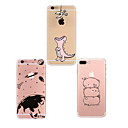 cheap iPhone 7 Screen Protectors-Case For Apple iPhone X / iPhone 8 Plus / iPhone 8 Dustproof / Ultra-thin / Pattern Back Cover Cartoon Soft TPU