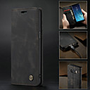 Недорогие Чехлы и кейсы для Galaxy S4 Mini-Кейс для Назначение SSamsung Galaxy S9 / S9 Plus / S8 Plus Кошелек / Бумажник для карт / Защита от удара Чехол Однотонный Твердый Кожа PU / Ультратонкий