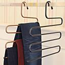ieftine Stocare și Organizare-magie pantaloni rack de fier s-tip multi-strat pantaloni hanger dulap de depozitare