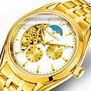 رخيصةأون خواتم-رجالي ووتش الميكانيكية داخل الساعة أتوماتيك ذهبي 30 m قضية ساعة كاجوال مماثل ترف موضة - ذهبي ذهبي + أسود ذهبي + أبيض