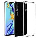 Недорогие Чехлы и кейсы для Galaxy S6-Кейс для Назначение Huawei Huawei P30 Ультратонкий / Матовое Кейс на заднюю панель Однотонный ТПУ