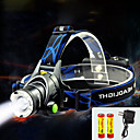 ieftine Frontale-TD286 Frontale Becul farurilor LED Cree® T6 1 emițători 800 lm cu Baterii și Încărcătoare Zoomable Rezistent la apă Focalizare Ajustabilă Camping / Cățărare / Speologie Ciclism Voiaj