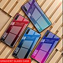 رخيصةأون حافظات / جرابات هواتف جالكسي S-غطاء من أجل Samsung Galaxy ملاحظة سامسونج 10 / Galaxy Note 10 Plus ضد الصدمات / نحيف جداً غطاء خلفي لون متغاير زجاج مقوى