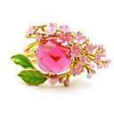 ieftine Inele-Pentru femei Inel 1 buc Roz Diamante Artificiale / Aliaj Rotund Corean / Modă / Cute Stil Zilnic / Școală / Stradă Costum de bijuterii