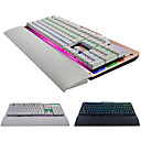 رخيصةأون لوحات المفاتيح-الأزرق مفاتيح معدنية لوحة المفاتيح الميكانيكية 104 مفتاح الألعاب k26