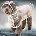 رخيصةأون كنزات هودي رجالي-قط كلب سترة معطف واق من المطر ملابس الكلاب لون سادة أسود أبيض أرجواني بلاستيك كوستيوم من أجل هاسكي لابرادور Malamute ألاسكا الربيع الصيف الخريف شفاف مقاومة الماء كوول