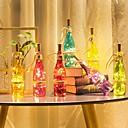 رخيصةأون أضواء شريط LED-loende barisc أضواء زجاجة النبيذ مع الفلين جنية أضواء led بطارية 2 متر 20 المصابيح الفضة الأسلاك النحاسية للماء