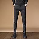 رخيصةأون بدلات-رجالي أساسي بدلة / Jogger بنطلون - لون سادة أسود أزرق رمادي US32 / UK32 / EU40 US34 / UK34 / EU42 US36 / UK36 / EU44