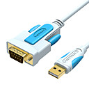 رخيصةأون كابلات USB-vention usb إلى db9 rs232 المسلسل كابل محول usb com منفذ db9 دبوس كابل rs232 للنوافذ 7 8 10 xp ماك os x طابعة أدى pos 2 متر