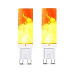 billiga -2pcs 3 W LED-lampor med G-sockel 240-300 lm G9 T 36 LED-pärlor SMD 2835 3D Firework Varmvit 220 V