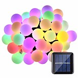 billiga -5m Ljusslingor 20 lysdioder 1Sätt monteringsfäste Varmvit / RGB / Vit Vattentät / Sol / Kreativ Soldriven 1set