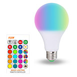 billiga -1st 10 W Smart LED-lampa 200-800 lm E26 / E27 A70 6 LED-pärlor SMD 5050 Smart Bimbar Party RGBW 85-265 V