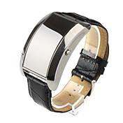blå LED sort PU skinn band sport ledet armbåndsur