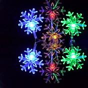 6m 3w 32-luz LED de colores copo de nieve en forma de cadena de hadas de la lámpara (110/220v)