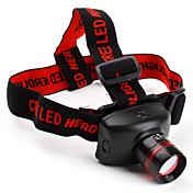 헤드램프 헤드라이트 LED 800 lm 3 모드 Cree XR-E Q5 줌이 가능한 용 캠핑/등산/동굴탐험 배터리 불포함
