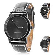 Reloj Casual Banda Negro Plata