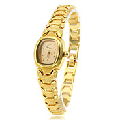 Mujer Reloj de Moda Reloj Pulsera Cuarzo Banda Cosecha Elegantes Dorado