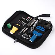 13-piece tool kit de reparación de relojes caso abridor de primavera bar