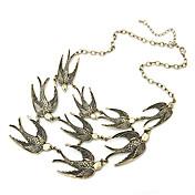 Mujer Collar vintage Collares Declaración - Animal Moda Ajustable Europeo Pájaro Dorado Gargantillas Para Fiesta Diario