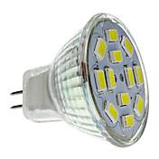 2 W 250-300 lm GU4(MR11) LED-spotpærer MR11 12 LED perler SMD 5730 Naturlig hvit 12 V