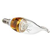 3000 lm E14 Luces LED en Vela CA35 3 leds LED de Alta Potencia Decorativa Blanco Cálido AC 85-265V