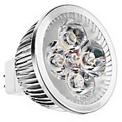 240 lm GU5.3(MR16) Focos LED MR16 4 leds LED de Alta Potencia Blanco Cálido DC 12V