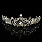 Mujer Diamantes Sintéticos Aleación Perla Artificial Celada-Boda Tiaras