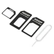 Adaptador Tarjeta SIM Nano a SIM Micro/Standard para iPhone 5 y Otros