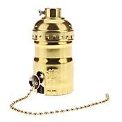 Soporte de la lámpara del zócalo de la base del color de oro e26 con el interruptor de alta calidad