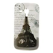 Caso duro de la vendimia de la torre Eiffel Patrón para Samsung Galaxy Tendencia Duos S7562