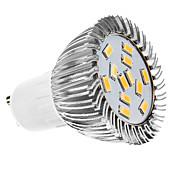 gu10 led spotlight mr16 12 smd 5630 360lm blanco cálido 3500k ca 110-130 ca 220-240v