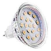 2W 150-200 lm GU5.3(MR16) Focos LED MR16 15 leds SMD 2835 Blanco Cálido DC 12V