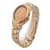 Reloj Casual Rosa Oro Plateado Banda